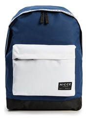 Topman Nicce Blue White And Black Taping Backpack