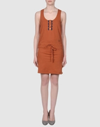 Le Mont St Michel Short Dresses Brown