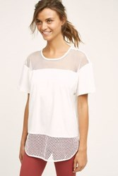 Anthropologie Adidas By Stella Mccartney Mesh Tee White