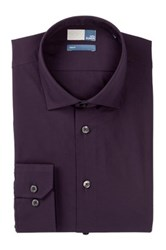 14Th And Union Long Sleeve Trim Fit Solid Dress Shirt Purple