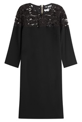 Dkny Dress With Lace Black