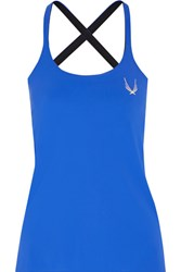Lucas Hugh Cross Back Stretch Tank Cobalt Blue