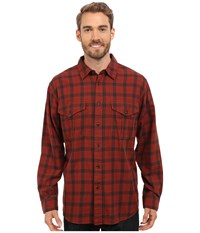 Filson Lightweight Alaskan Guide Shirt Burgundy Deep Brown Men's Long Sleeve Button Up Red
