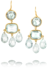 Marie Hela Ne De Taillac 18 Karat Gold Aquamarine Earrings