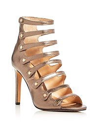 Vince Camuto Kanastas Metallic Caged High Heel Sandals Copper Silver
