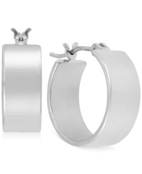 Kenneth Cole New York Silver Tone Small Hoop Earrings