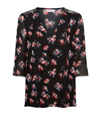 Claudie Pierlot Becot Lace Trim Floral Top Female Black