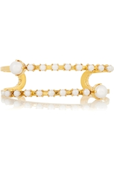 Erickson Beamon Pearly Queen Gold Plated Faux Pearl Cuff