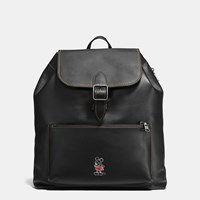 Coach Mickey Rainger Backpack In Glovetanned Leather Black