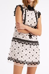 Giamba Star And Broderie Embellished Dress Pink