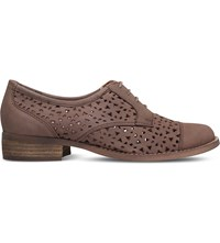 Miss Kg Marshall Laser Cut Leather Brogues Taupe