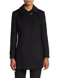 Giorgio Armani Wool And Cashmere Flared Coat Black