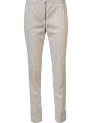 Fabiana Filippi Slim Fit Trousers Nude And Neutrals