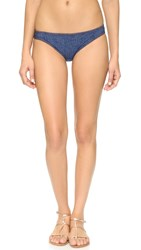 Karla Colletto Denim Hip Bikini Bottoms Blue