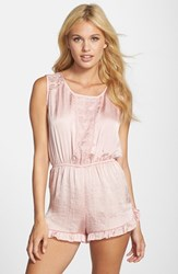 Women's Band Of Gypsies Lace Trim Romper