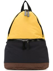Marni Colour Block Backpack Yellow And Orange