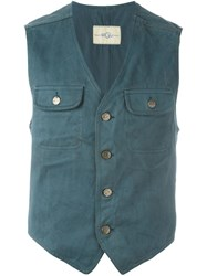 Romeo Gigli Vintage Patch Pocket Waistcoat Green