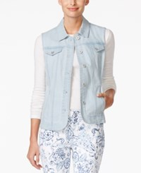 Charter Club Denim Vest Only At Macy's Feather Blue
