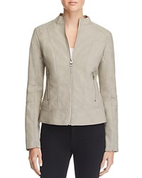 Guess Mia Faux Leather Jacket Glacier Grey