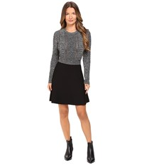 Red Valentino Wool Lurex Knit Dress Grey Women's Dress Gray