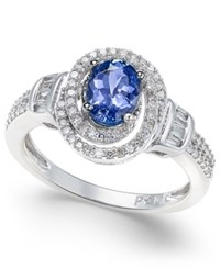 Macy's Tanzanite 7 8 Ct. T.W. And Diamond 3 8 Ct. T.W. Ring In 10K White Gold