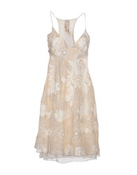 Gas Jeans Gas Dresses Short Dresses Women Beige