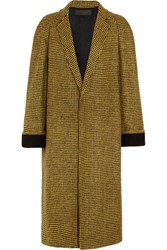 Haider Ackermann Wool And Alpaca Blend Houndstooth Coat Yellow