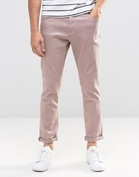 Brooklyn Supply Co. Co Hamptons Cropped Slim Trousers Off Burgundy Brown