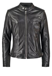 Redskins Nitro Carter Leather Jacket Black