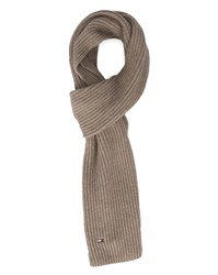 Tommy Hilfiger Beige Cotton And Cashmere Scarf
