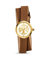Tory Burch The Reva Double Wrap Watch 28Mm Brown