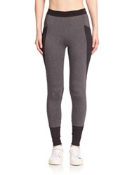 Elie Tahari Pheobe Paneled Leggings Charcoal