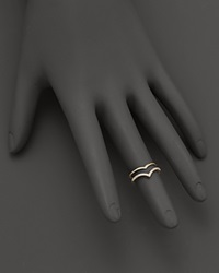 Bloomingdale's Diamond Double Row Midi Ring In 14K Yellow Gold .09 Ct. T.W. White Gold