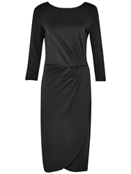 French Connection Northern Jersey 3 4 Length Sleeve Dress Black
