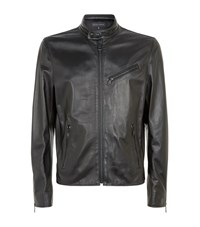 Ralph Lauren Black Label Altitude Cafe Leather Jacket Male