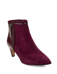 French Connection Kordelle Suede Booties Burgundy