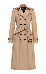 Burberry Luggage Stitch Slim Fit Trench Coat Tan