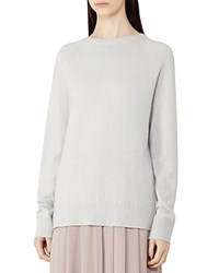 Reiss Brook Cashmere Sweater Silver Gray