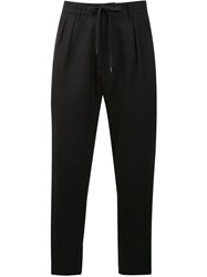 F.S.Z Drawstring Tapered Trousers Black