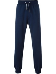 Brunello Cucinelli Gathered Ankle Track Pants Blue