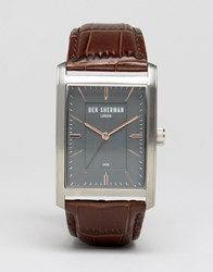 Ben Sherman Clerkenwell Professional Square Leather Watch Wb013e Black