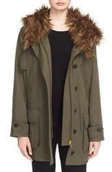 Women's Smythe Faux Fur Trim Hooded Anorak