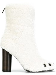 Anya Hindmarch Fur Boots White