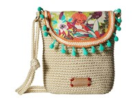 Sakroots Artist Circle Crochet Flap Crossbody Citrus Xen Garden Cross Body Handbags Multi