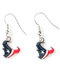 Aminco Houston Texans Logo Drop Earrings Team Color