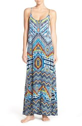 Red Carter Women's Print Cover Up Maxi Dress