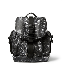 Givenchy Camo Flower Print Leather Backpack Black