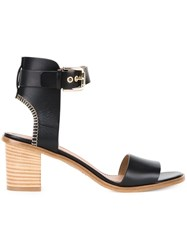 Scanlan Theodore Mid Heel Sandals Black