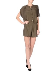 Bel Air Short Overalls Military Green