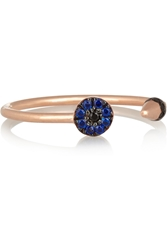 Ileana Makri Little Eye Spike 10 Karat Rose Gold Cubic Zirconia Ring